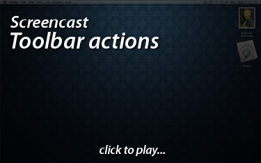 Stitches Screencast - Toolbar actions