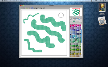 Stitches Screenshot - Drawing with different brush sizes